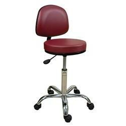 "Oakworks Professional Swivel Stool W/Back 18-24""H"