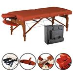 "Master® Massage Equipment 31"" Santana™ Portable Massage Table Package Mountain Red"