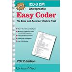 2012 ICD-9-CM Easy Coder- Chiropractic Version Book