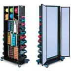 Mobile Rack With Triple Mirror