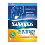 Salonpas® Pain Relieving Gel-Patch, Large, 3/Box