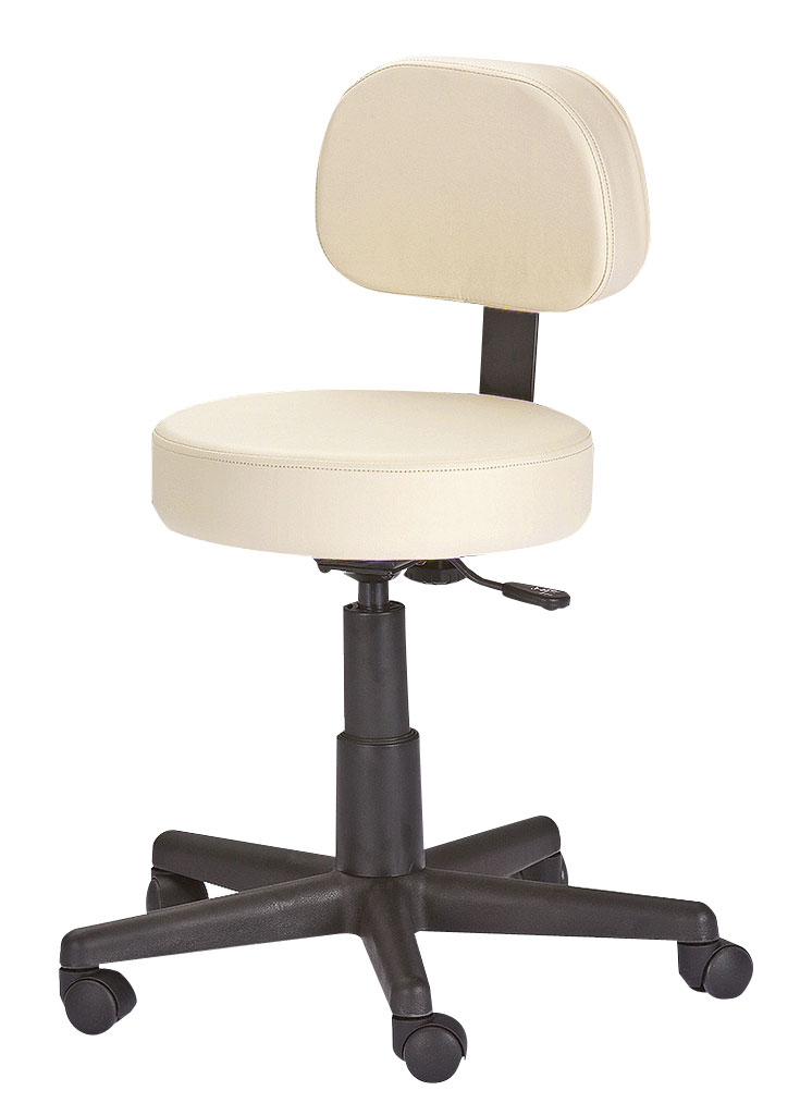 Buy Earthlite Rolling Stool With Back