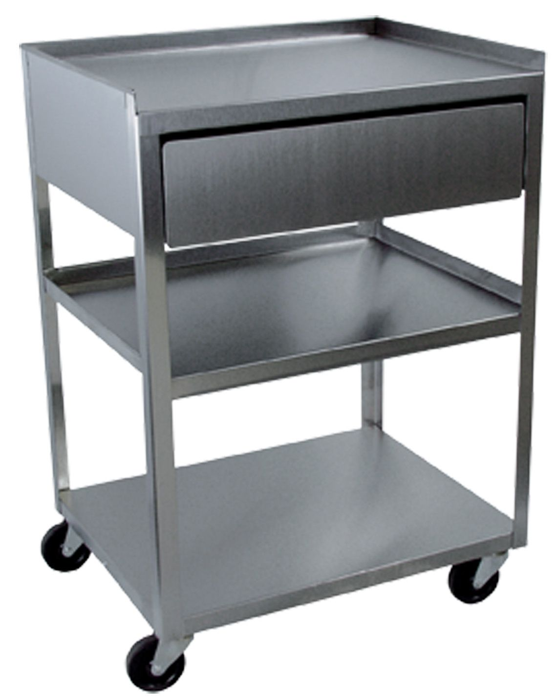 Buy Rolling Make Up Artist Bag With Seat: Buy Stainless Steel Rolling Cart- 3 Shelf With Drawer