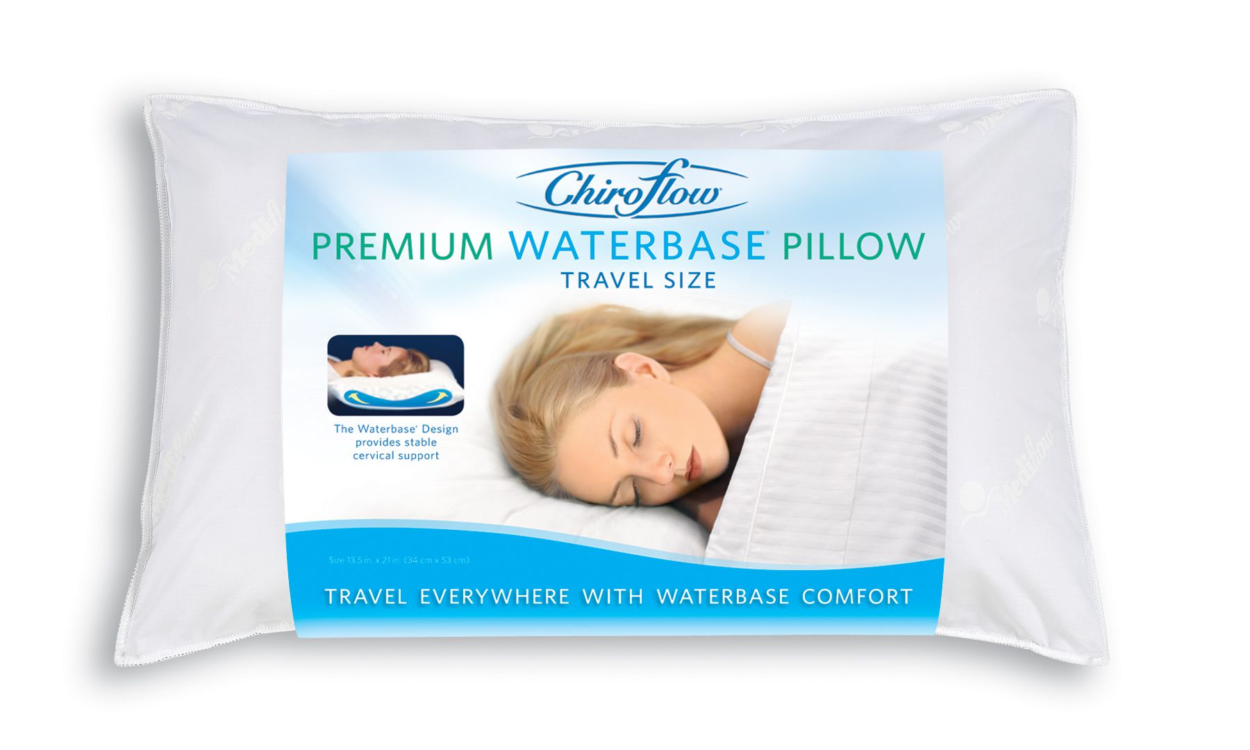 Chiroflow Travel Size Waterbase Pillow For Sale Water Pillow