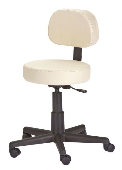 Earthlite Rolling Stool With Back
