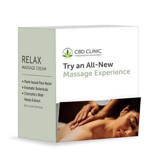 CBD CLINIC™ Massage Relax Cream 1.7g Sample Packet – 60 Ct.