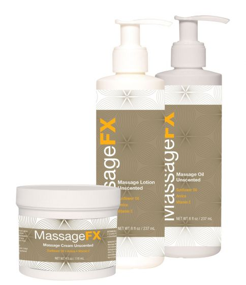 Massage FX Massage Cream , Lotion & Oil Kit