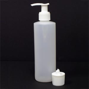 8 Oz Plastic Bottle And Flip Top Cap With Pump
