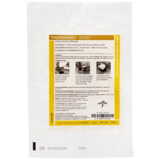 "TheraHoney Wound Dressing Sheet – 4"" x 5"" Each"