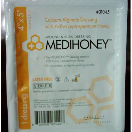 MEDIHONEY® Calcium Alginate Dressing with Active Leptospermum Honey - 4