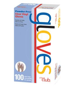 ProductClub® Powder-Free Clear Vinyl Disposable Gloves