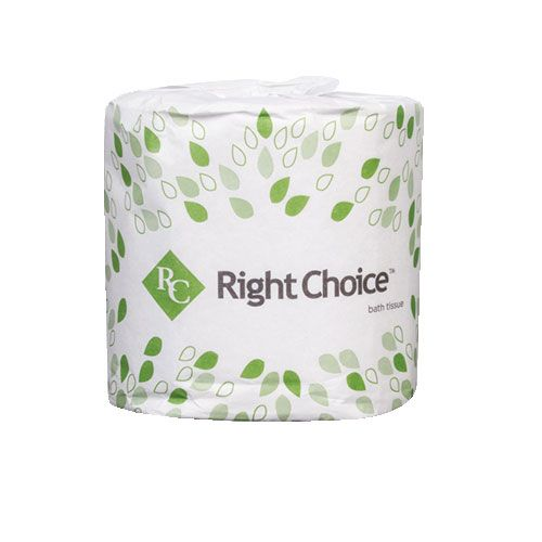 Right Choice™ 2-Ply Standard Bath Tissue Individually Wrapped, 500 Sheets/Roll