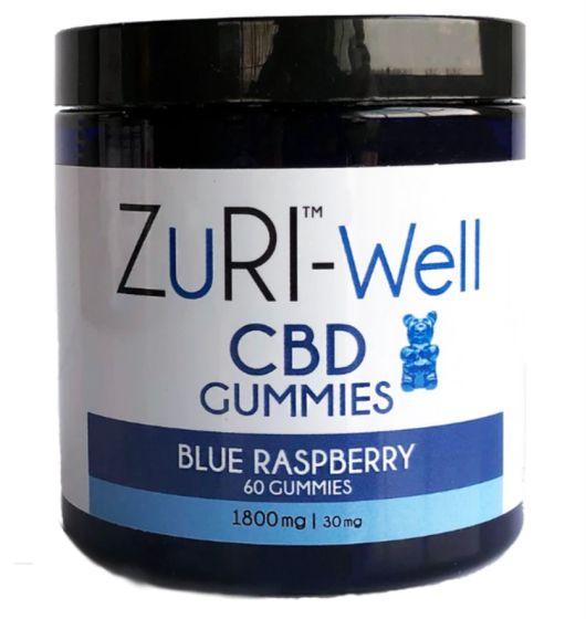 ZuRI™ CBD Gummies – 1800mg 60 Count