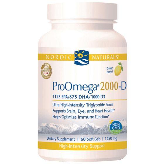 Nordic Naturals® ProOmega® 2000-D Dietary Supplements 60 Soft Gels