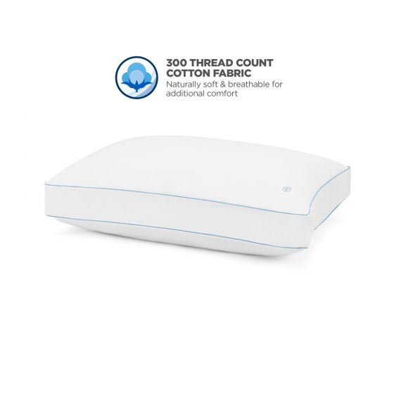 Great Sleep® 5 Degree HYDROCOOL™ Pillow Side and Back