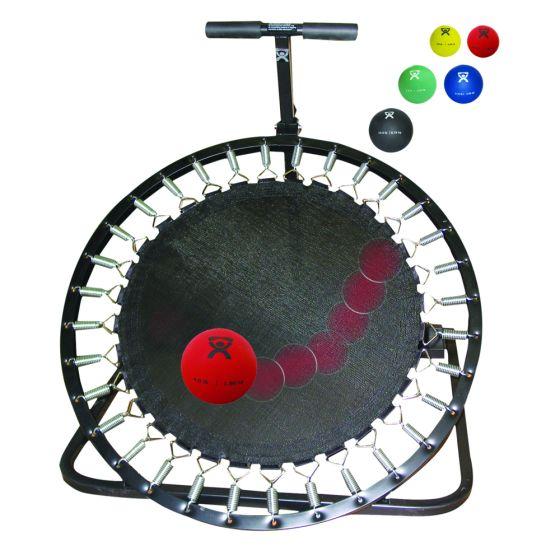 CanDo® Circular Ball Rebounder with Metal Rack and 5 Medicine Balls