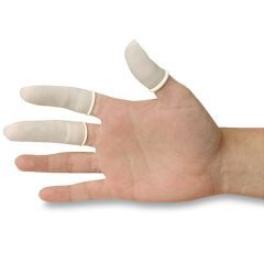 Finger Cots NONMEDICAL USE - White - Powdered Latex