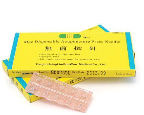 Mac Disposable Acupunture Press Needles .20mm x 1.5mm