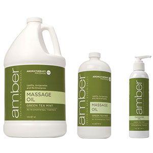 Amber Green Tea Mint Massage Oil