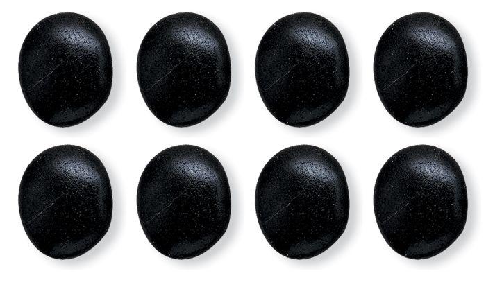 Hot Stones Massage Large, Set Of 8 Basalt Stones