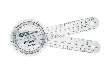 Baseline Hi-Res Plastic 8' Goniometer 360 Degree