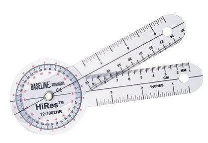 Baseline Hi-Res Plastic 6' Goniometer 360 Degree