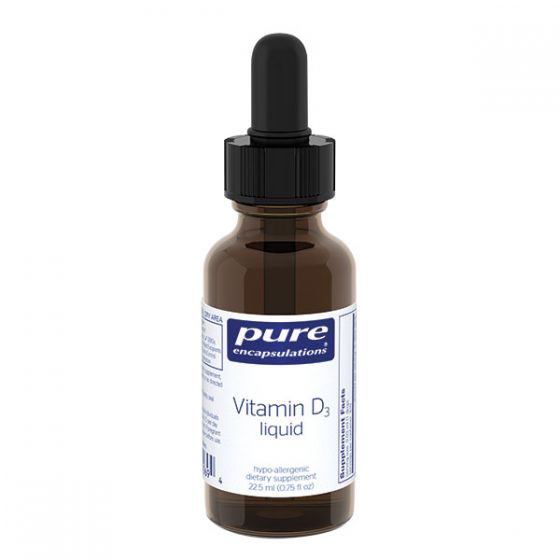 827 0426: Pure Encapsulations Vitamin D3 Liquid 22.5 Ml