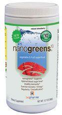 biopharma® nanogreens® Natural Strawberry - 12.7 Oz