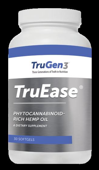 TruGen3® TruEase® Phytocannabinoid Rich Hemp Oil CBD – 30 Soft Gels