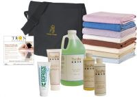 Complete Massage Table Starter Kit - Massage Sheets, Lotions, Creams, Oils & More