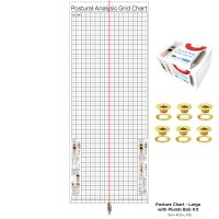 Kent Health Posture Analysis Grid Chart – Original with Grommets and Plumb Bob Kit
