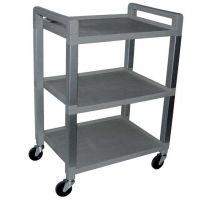 Gray 3 Shelf Poly Cart Luxor