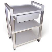 Smooth Rolling Lightweight Poly Cart with shelves and Drawer