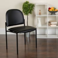 Flash Armless Chair, Black