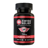 Swiss Relief™ CBD Gel Caps - 25mg, 30 Count