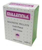 Millennia Magnetic Pellets 1.7mm 800 Gauss 24 Karat Gold Auricular Magnets