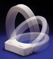 """Hinged Elevated Toilet Seat-3""""-Elongated Bowl"""