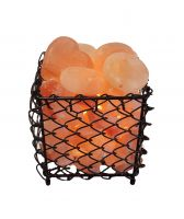 Himalayan Salt Stone Square Warmer with Stones from Harmony Salt