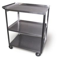 Stainless Steel Rolling Cart Model MC311 - 3 Shelves with Handle