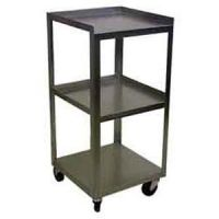 "Stainless 3 Shelf Compact Cart 14""X14""X30"""