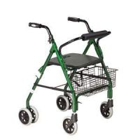 Economy Rollator With Loop Brakes & Padded Seat