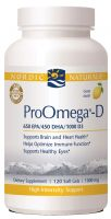 Nordic Naturals ProOmega-D, 1000mg, Lemon 120 Count