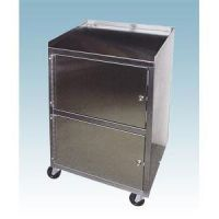 Stainless Cart With Dual Locking Cabinets