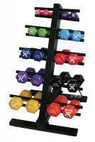 CanDo® Vinyl Coated Iron Dumbbells - Single Dumbbell