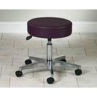 "5 Leg Pneumatic Stool With Backrest 19.5""-24.5""H"