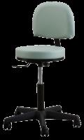 Oakworks® Premium Swivel Stool With Backrest