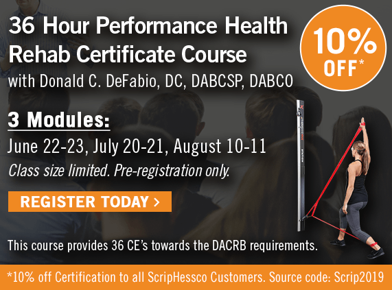 36 Hour Performance Health Rehab Certificate Course with Dr. DeFabio