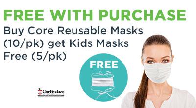 Buy Core Masks Get Kids Masks Free