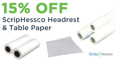 ScripHessco Headrest and Table Paper