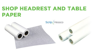 ScripHessco Head Rest Table Paper